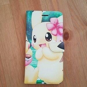 •Pikachu Iphone 6 Plus Wallet Case